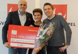 Pierre Jonsson (Svenska spel), Jenny Rissveds (OS-guld mountainbike) och Andreas Lundin (Radiosporten)