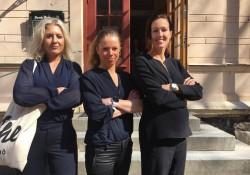 Klara Svensson (boxning), Maria Rydqvist (längdskidor) och Therese Alshammar (simning) idrottare som föreläste på  genusseminariet i maj.
